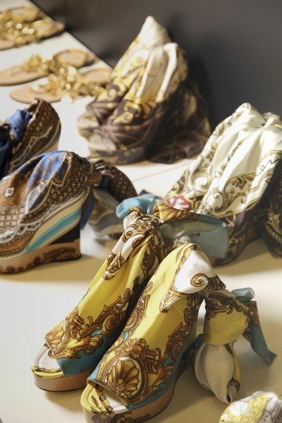 The shoes at D&G Spring/Summer 2012 RTW