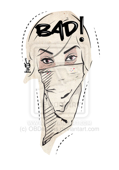 "illustration for a client  ""bad"" BAD  ~OBDesigns"