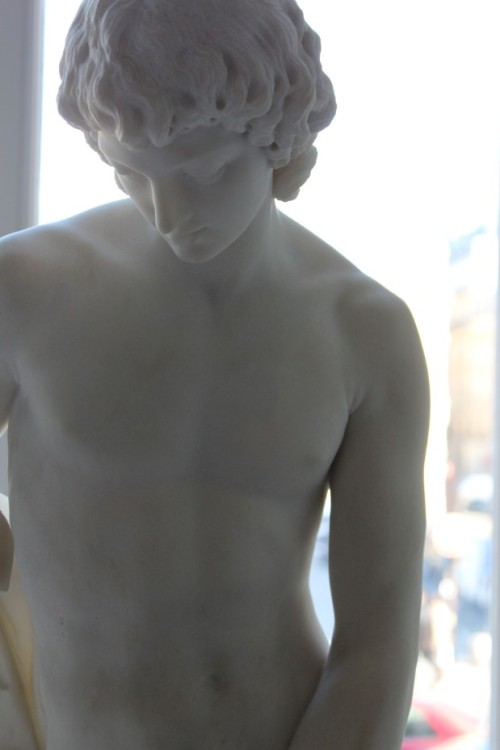 Sculpture of youth in Marble