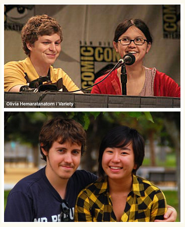 Michael Cera and Charlyne Yi are my husband and me.