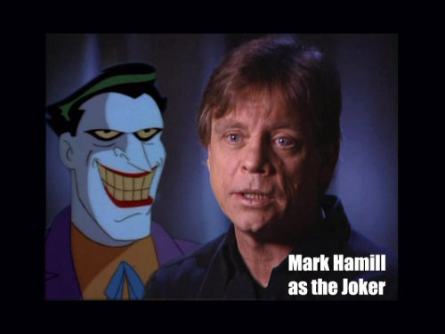 MARK HAMILL TURNS 60 TODAY. See, I always relate Mark Hamill to The Joker. So here is a happy birthday to him with a photo that has nothing to do with Luke Skywalker.