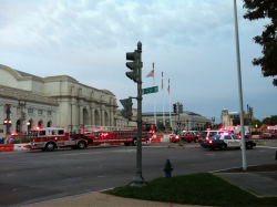 Something serious seems to be going on inside Union Station in DC, which appears to have been evacuated.