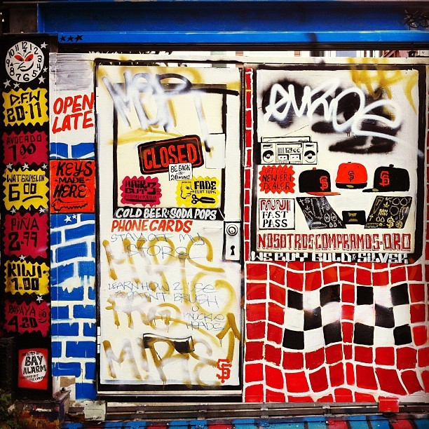 #clarionalley #openlate #sanfrancisco #graffiti (Taken with instagram)
