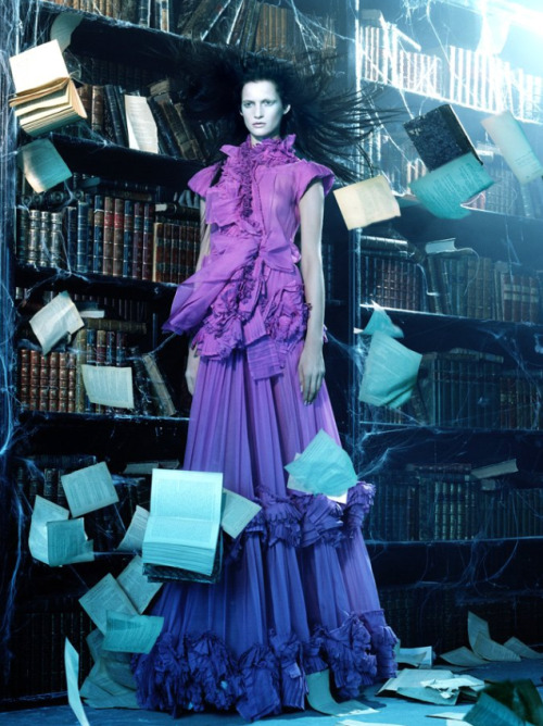 thunderflowers:  Vogue Italia, April 2006A Flutter of Gauzy Fabrics by Miles Aldridge