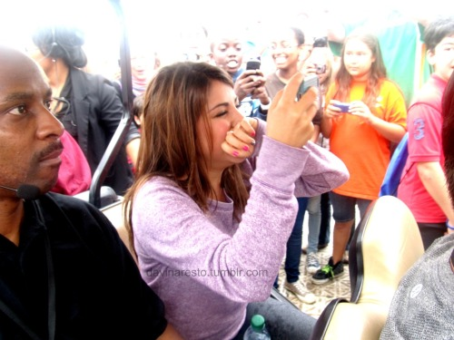 Daniella Monet :) She was so shocked to see all the fans it was so cute!