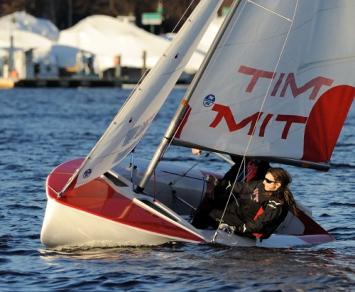 MIT - sailing on the edge on the Charles River.