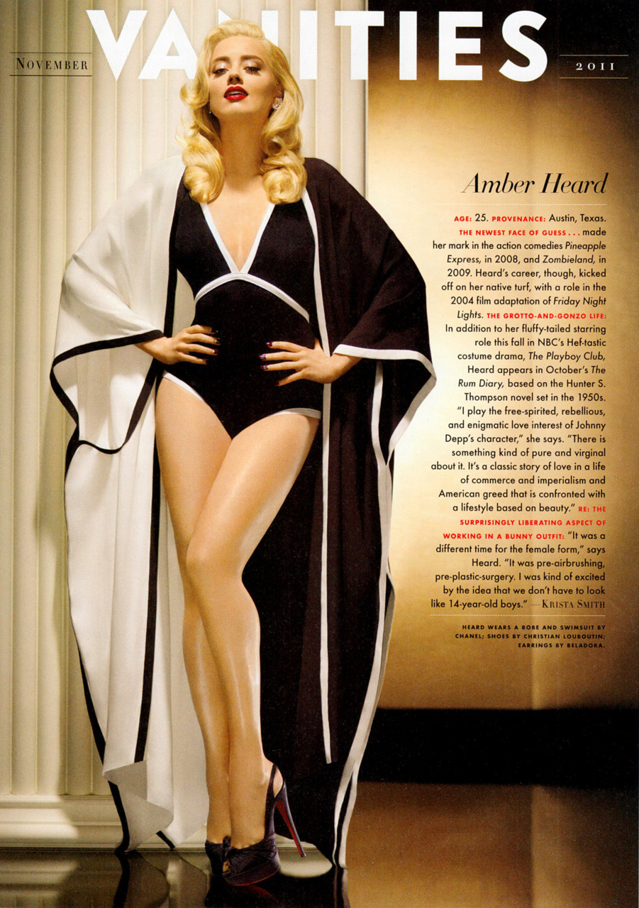 Amber Heard photographed by Matthew Rolston for Vanity Fair, November 2011