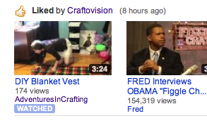 OHMYGOD!!!! thats my (and erins) video liked by craftovision/threadbanger. AHHHHHH!!!!