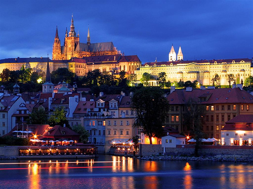 Prague, Czech Republic at night