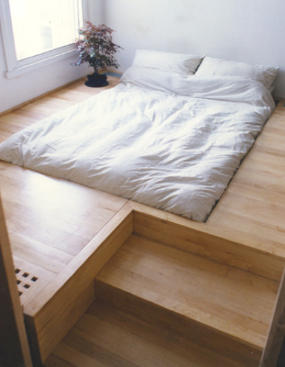gregmelander:  THE BED The bed needs a redesign. Since we spend so much of our lives there, shouldn't we really design that space well? I like this design by Oliver Peake.