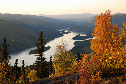just-breezy:  yukon river near dawson city (by klaus53)
