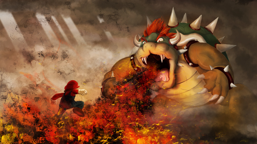 svalts:  Mario Vs. Bowser - by Trey Buongiorno deviantART | Tumblr