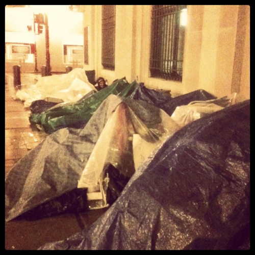 Sleeping the rain again tonight. #OccupyChicago #OccupyWallStreet #OccupyUSA #Solidarity
