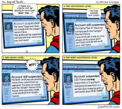 (via Superman VS Google .) Good to know it's not just me they're screwing over! (Thanks to @LouisTrapani for sending this my way.)