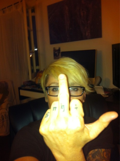 girlgoesgrrr:  If you're a bully, this is for YOU. #otep  Or, you know, if you're a high school student.