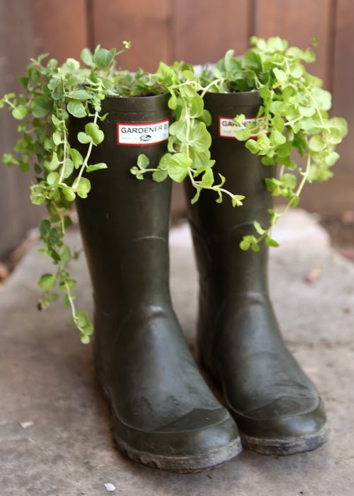 Boot Planter (via I go by Katie: Boot Planter)