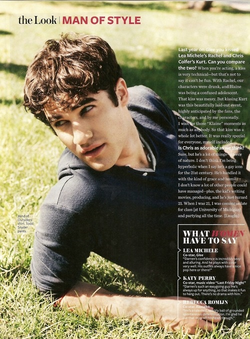 InStyle Magazine, Darren Criss. Go out and buy the Magazine!!