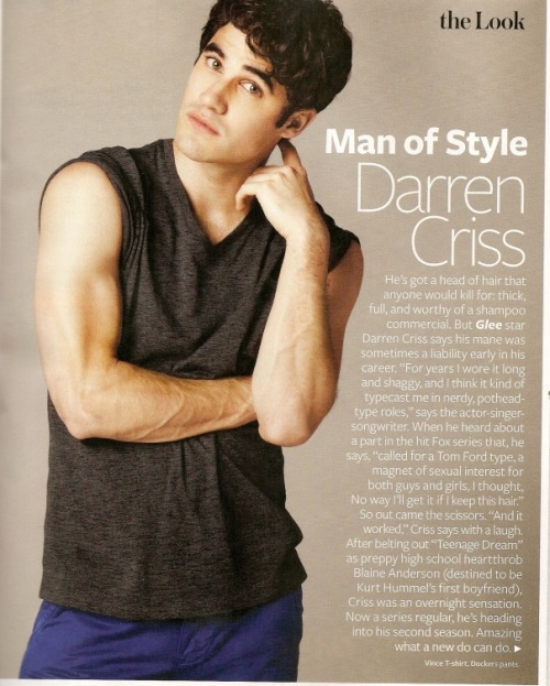 Another Page from InStyle, Darren Criss. Go out and buy it!