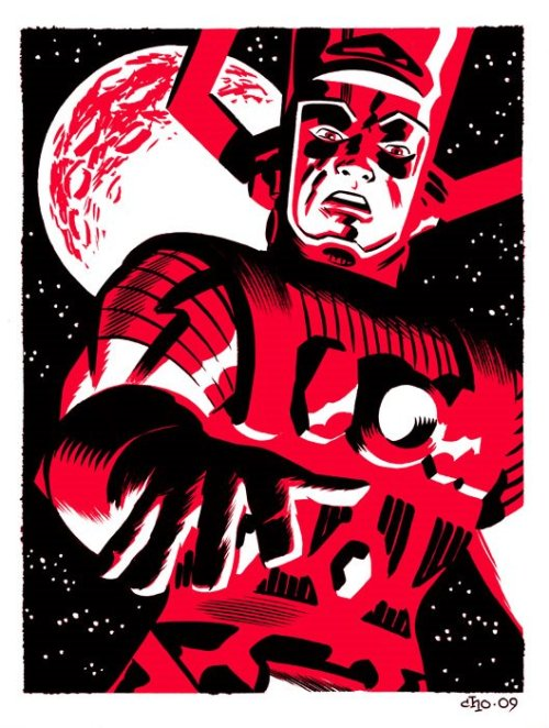 seltzerlizard:  (via Michael Cho's sketchbook: Galactus vs. Iron Fist)  Galactus by Michael Cho.  His blog is really cool.  -