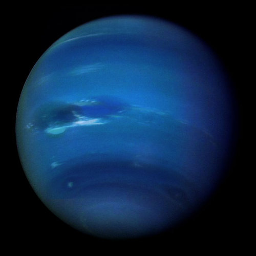 Neptune is the outermost of the four gas giants planets in our solar system.