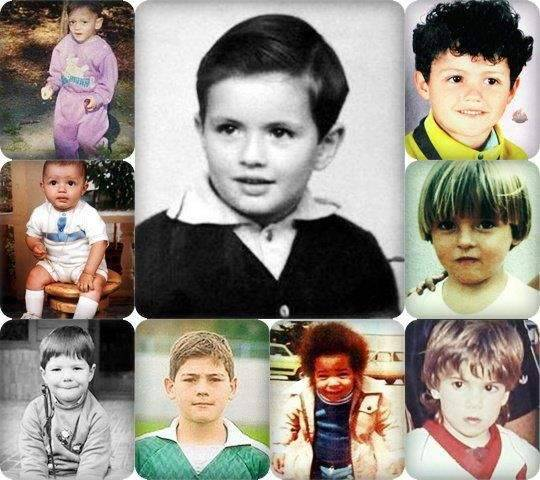 I know the cutie on the top left, but who's the gorgeous baby on the bottom right?