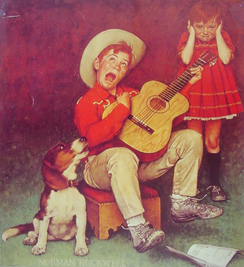thehazelwood:  The Music Man (1966) - Norman Rockwell