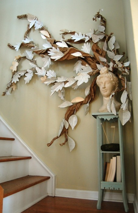songbirdisnesting:  20 Ways to Decorate With Book Pages from @thenester