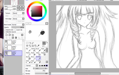 Trying to draw a final version of my OC. I guess now she just needs clothes! :O