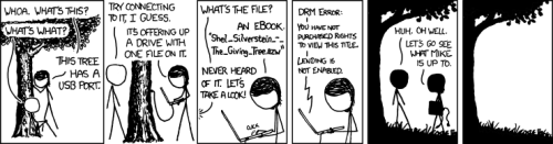 Sharing does not compute. From xkcd.com