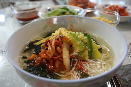 Janchi Guksu - Korean noodle. Traditionally, Koreans treat people Janchi Guksu when they get married. more interesting story in ebook <korea holic> - for free in ibooks. http://itunes.apple.com/us/book/korea-holic/id458998532?mt=11