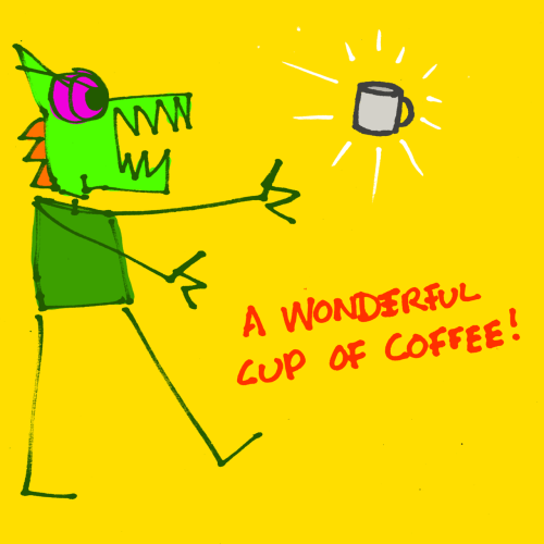 explodingdog:  Crazy Monster's morning has been saved!