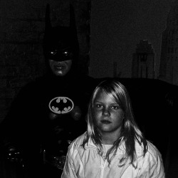 Sarah with Batman, Copenhagen 2005.