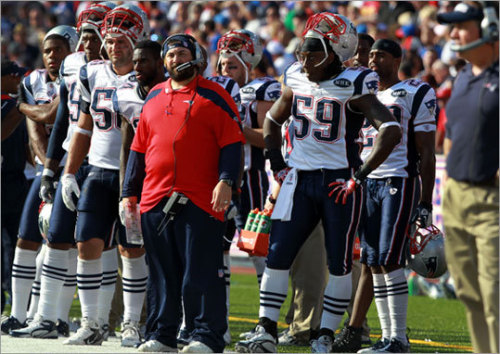 Patriots stats of the day, courtesy of Matt Salah:  Stats of the day…. the last time the Pats lost to the Bills (week 1, '03), they went on to win the Superbowl. In each of their three Superbowl winning seasons ('01, '03, '04), Brady had one game where he threw four picks (including the aforementioned Bills game in '03). Looks like things are looking up for the Pats!  I definitely admire that optimism! (Photo by Barry Chin/Boston.com)