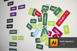 HTML5 Whiteboard Magnets. (via Cameron Moll)