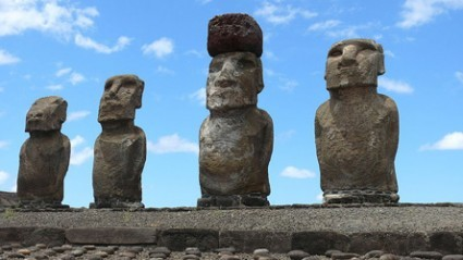 jtotheizzoe:  Rats, Not Recklessness, May Have Done Easter Islanders In Easter Island has been used as a famous example of what can happen to a culture when it exhausts its resources (as seen in Jared Diamond's Collapse). Recently, though, that idea has come into question. Did the original settlers of Easter Island (the Rapanui) really die off due to their obsessive deforestation and cult-like competition to erect the large Moai sculptures? Or did they actually settle there much later, succumbing to other factors? The newest research blames the infestation of a polynesian rat for the rapid deforestation of the island, where it would have quickly multiplied to a population of millions of seed-eating pests. A lack of resources probably had something to do with the Rapanui population crash, but likely wasn't the only factor. The poetic example of a native people living outside their natural means and suffering the consequences might be due to collapse itself. (via Discover Magazine)
