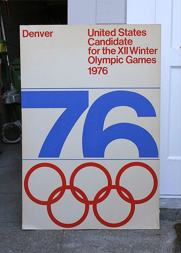 frijole:  XII Winter Games Denver '76 Candidate City Poster  Massimo Vignelli for Unimark
