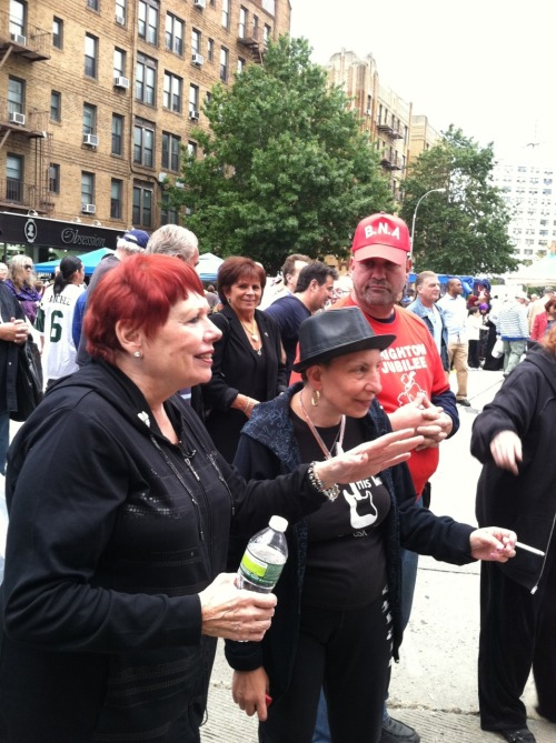 Pat Singer, Brighton Beach Association President (left)