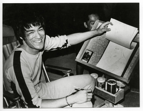 -outlying-:  Bruce Lee on the set of The Game of Death, c. 1972  badassery
