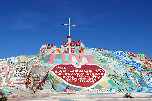 Salvation Mountain near Slab City, California