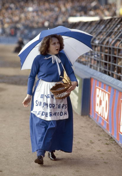 retrofootball:  1984|Everton Mascot  Hey lady!