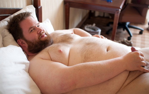 "bigsexymen:  bigsexymen:  chubbyaddiction:  So lovely…   his chest and nipples are unreal.  (i h8 the ""moobs"" meme)  i need to suck on those man-titties and play with them until he shoots on me"