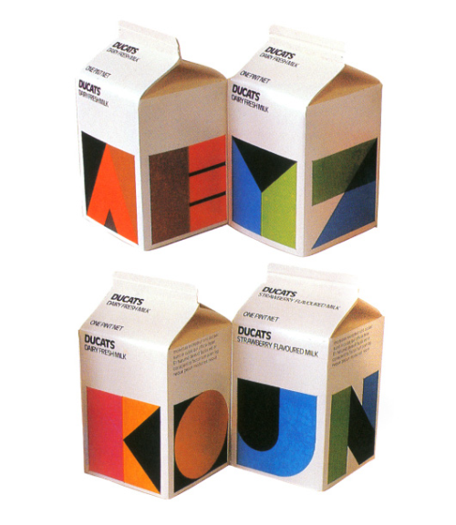 80's milk pachaging jaymug:  Ducats 1980s Milk Packaging