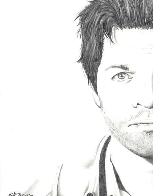 Portrait of Misha Collins, drawn by me. Gonna get this one autographed by him at the Supernatural Toronto Convention. FINALLY FIXED MY SCANNER! 4B Pencil & Tortillion. Approx. 3 hours. See my portrait of Richard Speight Jr. HERE