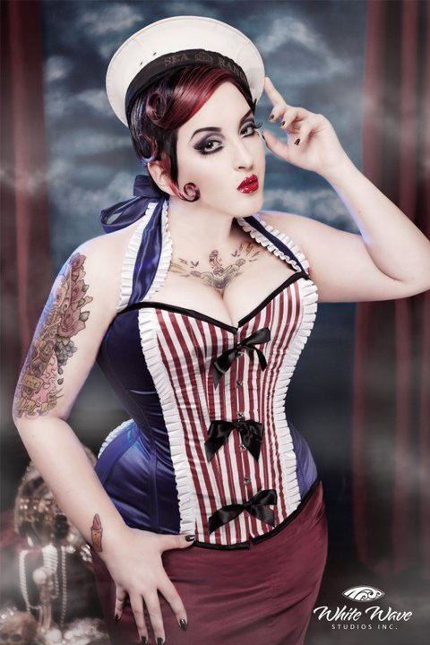 kerosenedeluxe:  Me as a sailor! Photographer: White Wave Studio's Corset by Sweet Carousel corsetry