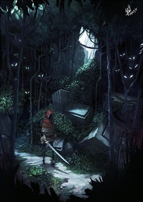 mayorofawesometown:  Dark Forest by Nerdiesid