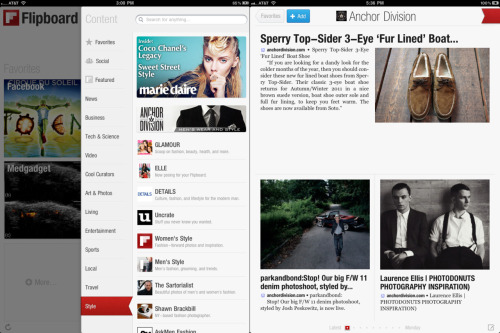 "Anchor Division is proud to announce the feature on FlipBoard! For those of you out there who are currently rocking the iPad, download the FlipBoard app and check under the style tab.   ""Named Apple's iPad App of the Year and one of TIME's top 50 innovations of 2010, Flipboard is a fast, beautiful way to flip through the news, photos, videos, and updates your friends are sharing on Facebook, Twitter, Google Reader, Flickr, and Instagram. See your social media in a magazine layout that is easy to scan and fun to read.""  Shout out to:anchordivision"
