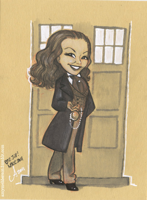 Adding to the list of reasons I love @amymebberson. #DoctorWho amymebberson:  Fun Size: Jill Pantozzi (thebirdandthebat) as the 8th Doctor! Giftie for New York Comic Con :)