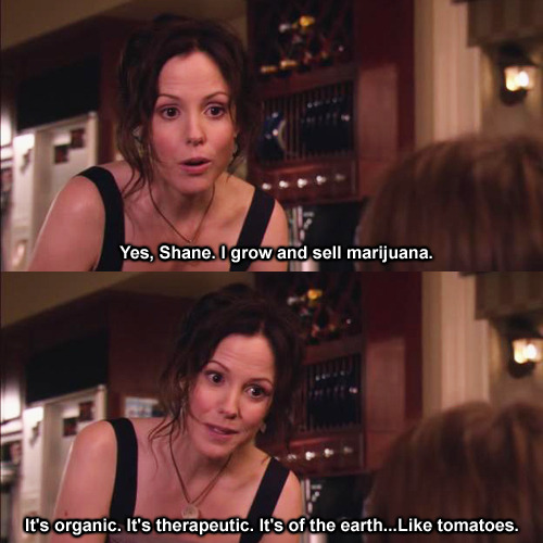 lysergiocacid:  Yes, Mom. I smoke marijuana. It's organic. It's therapeutic. It's of the earth… like tomatoes.