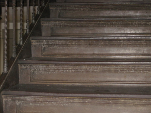 ihadtimetokill:  deliciafelicia:  itripoverthings:  Slate steps, Skinner Hall, Mount Holyoke College, South Hadley, MA. Physical evidence of the women who came before me.  These steps were one of my favorite places on campus. They tell the most amazing story.  beautiful, extraordinary history, no doubt. but honestly, i think i tripped on these steps more than anywhere else on campus. i started using the side doors to get to class, i got worried skinner was trying to kill me  I fell down these steps probably… twenty or so times during my time at Mount Holyoke. Half of those I was probably drunk, but shush.