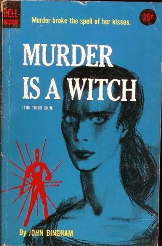"Murder is a Witch by The Woman in the Woods on Flickr. Murder is a Witch by John Bingham; Dell #941, (c)1957  Cover art by Richard G. Powers. ""Murder broke the spell of her kisses."""